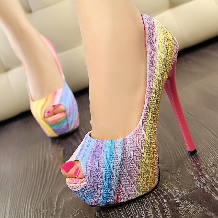 Colorful Platform Heels   Tsaa Heel