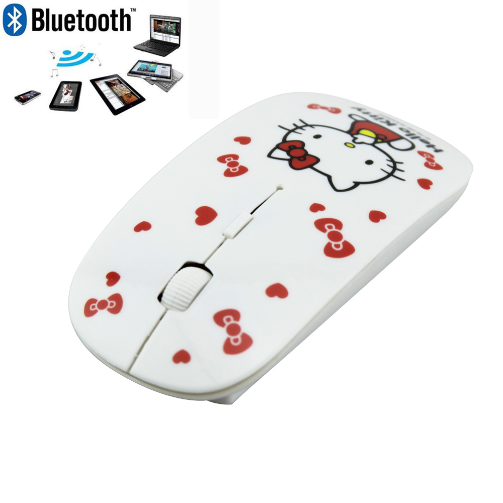 2016 Ultra Thin Slim Women Bluetooth 3.0 Wireless Mouse Mini Cute Hello Kitty Wireless Mouse Gaming mouse for PC Laptop(China (Mainland))