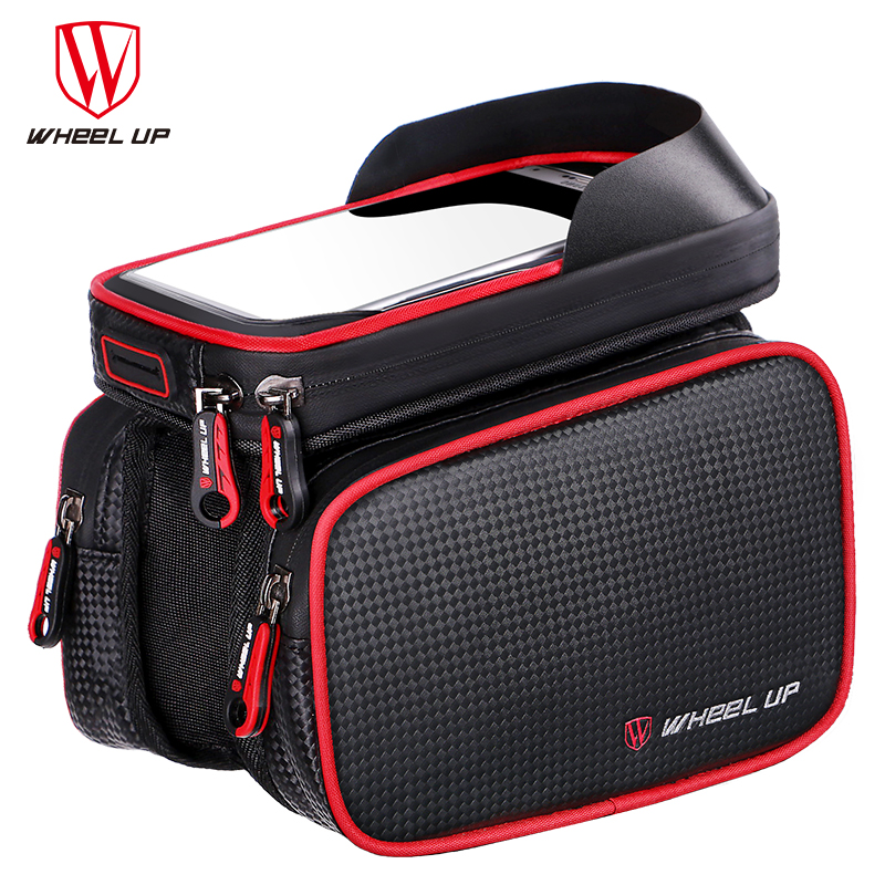 6.2 Inch waterproof bike touch screen bag front frame top cell phone TPU cycle bag MTB road mountain bicycle case New Arrival(China (Mainland))