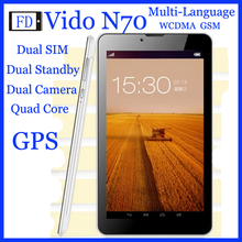 "Vido N70 3G 7"" IPS MTK Quad Core MT8312 8G Dual camera Bluetooth GPS WCDMA WIFI FM OTG Dual sim Android 4.2 Italian Tablet PC(China (Mainland))"