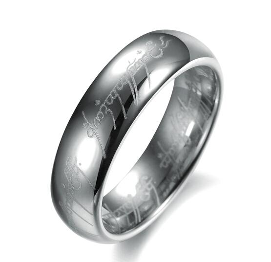 Мода ювелирные изделия золотое кольцо лазерной гравировкой из нержавеющей стали