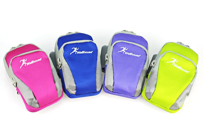 17*11 cm Big size running sports gym fitness outdoor cycling travel mobile phone cellphone money safe bag case arm wrist bags(China (Mainland))