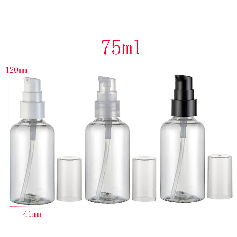 75ml empty clear cosmetic cream Bottles pump ,75g cream dispenser pump container bottles, empty transparent treatment bottle<br><br>Aliexpress