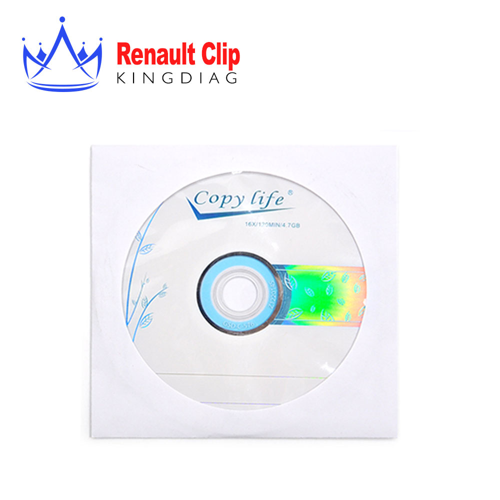 Can Clip for Renault Auto Diagnostic tool Software CD only contains Latest Version V155 DVD Free Shipping(China (Mainland))