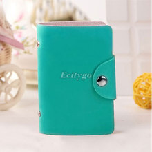 Men Women Pu Leather Pocket Business ID Credit Card Holder Cover Package Case Wallet Bolsas for