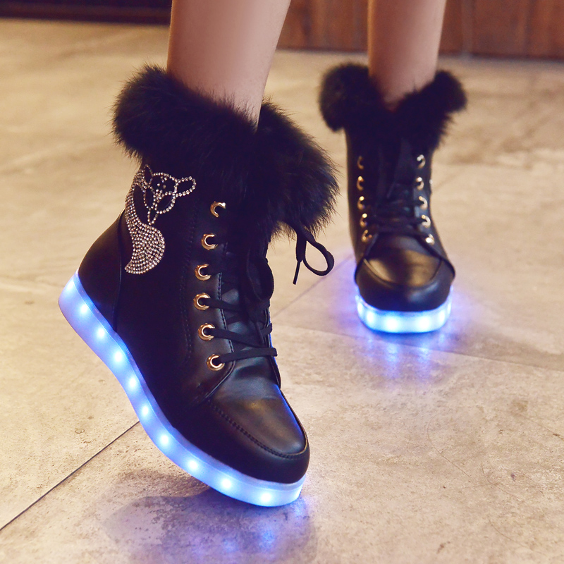 2015 new arrival fashion led winter snow boots led glowing. Black Bedroom Furniture Sets. Home Design Ideas