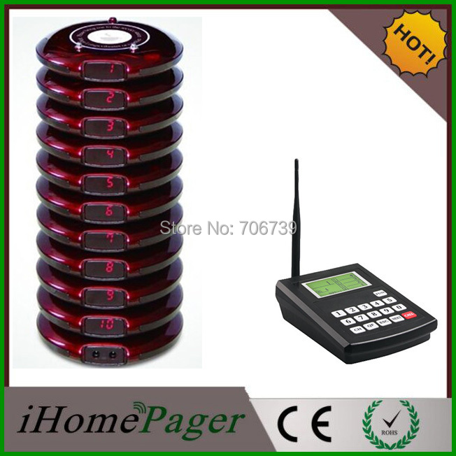 1 Set Restaurant Wireless Paging Device Number Calling System(China (Mainland))