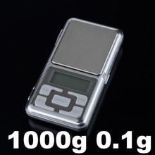 Electronic Digital Pocket Jewelry  Kitchen Weight Scale 1000g 1kg 0.1g  with retail box(China (Mainland))