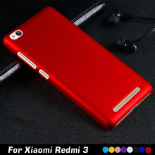 For Xiaomi Redmi 3 Case 5.0″ Luxury Plastic Hard Cell Phone Case For Xiaomi Redmi 3 Redmi3 Hongmi 3 Case Shell Back Cover