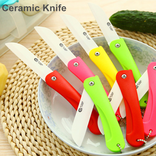 Folding ceramic knife for fruit vegetable sushi Eco free faca de ceramica kitchen knives cooking tools Novelty households 5146(China (Mainland))