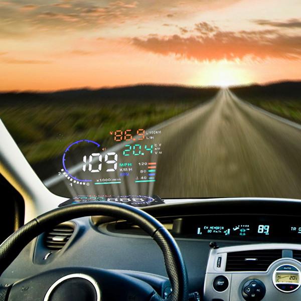 "promotion head up display hud 5.5"" Large Screen HUD Head Up Display hud head up display car With OBD2 Interface Plug&Play(China (Mainland))"
