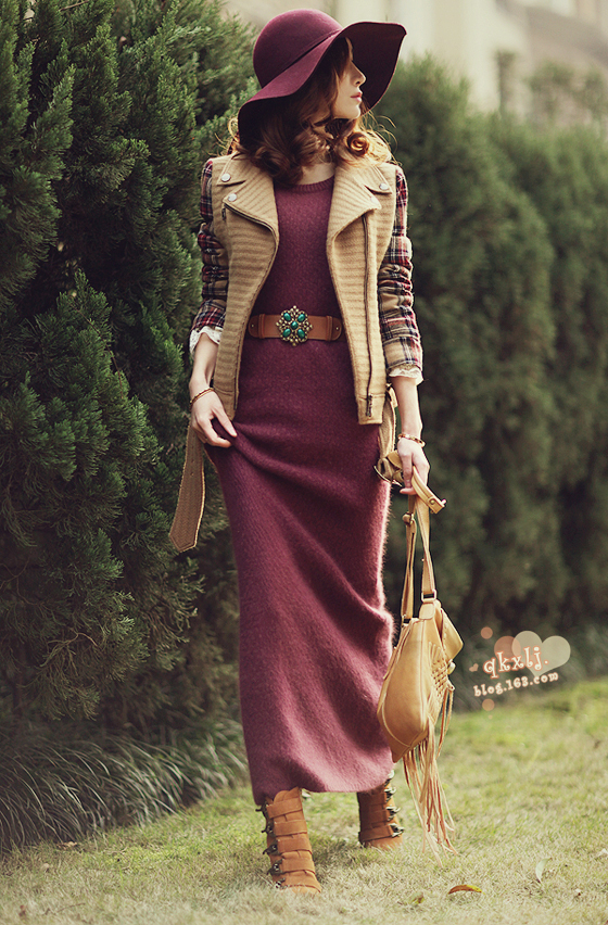 2015 Hot Sales Winter Slim People Angora Wool Dress Free Style Women's Clothes(China (Mainland))