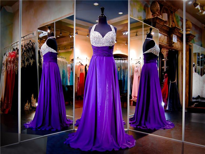 popular purple silver prom dressesbuy cheap purple silver