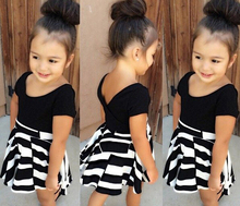 Buy BD211 Brand new 2015 euro style T-shirt + high waist skirt suit girls clothes set children clothing set girls dress suit retail for $5.30 in AliExpress store
