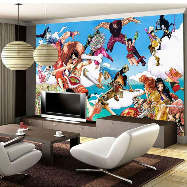 Anime peintures murales promotion achetez des anime for Chambre one piece