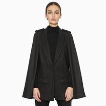 Hot!!! 2016 Europe Style Casaco Feminino Winter Cloak Style Vintage Long Sleeve Wool Coat Ladies Outside Overcoat Plus Size