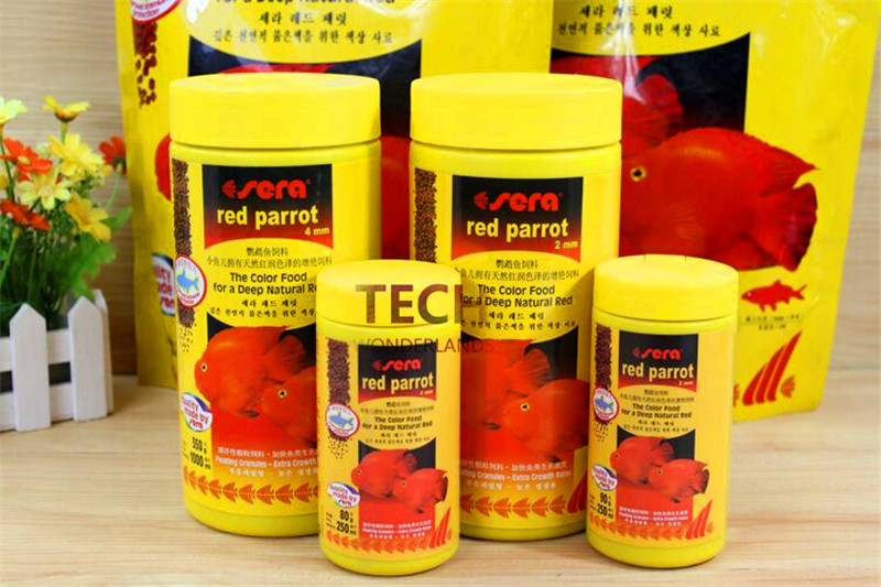 250ml/1000ml/1kg Red Parrot fish Food Granules 2mm/4mm Floating On Water 100% Original Sera Germany Fish Feed For Aquarium Fish(China (Mainland))