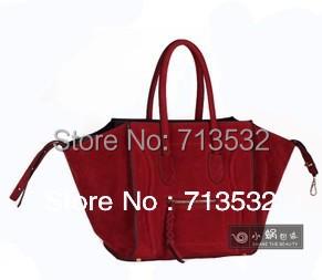 NEW Brand 2015 women messenge bag Faux Suede Leather Large bags for women Big handbags Free Shipping QAA276(China (Mainland))