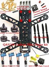 NEW Mini QAV250 Carbon Quadcopter frame kit EMAX MT2204 II 2300KV Cooling Motor+ Emax Nano 12A ESC +MINI CC3D Flight Control