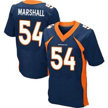 Men's #54 Brandon Marshall Elite Navy Blue Alternate Football Jersey %100 Stitched(China (Mainland))