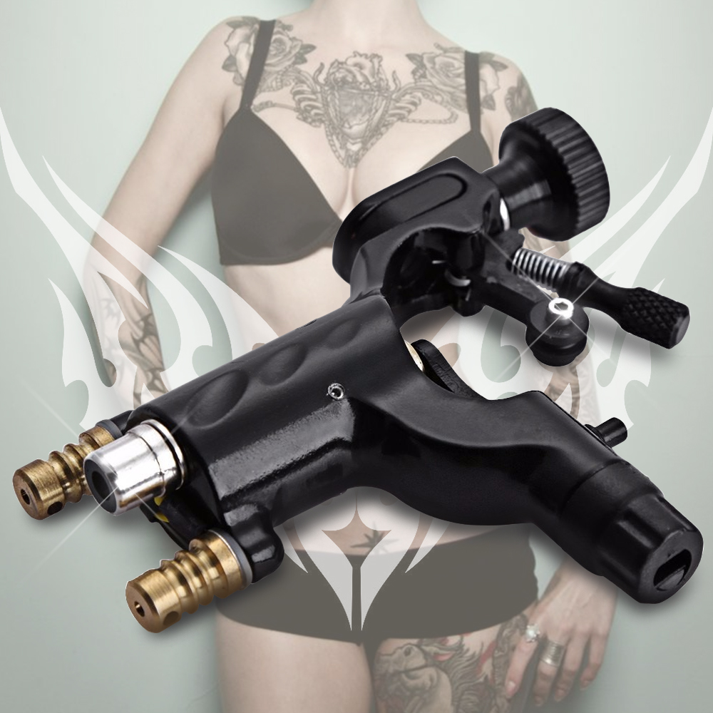Alloy Electric Hook Line Dual-use Silent Rotary Motor Tattoo Machine Dragonfly Machine Gun and Tattoo Supplies for Liner Shader(China (Mainland))