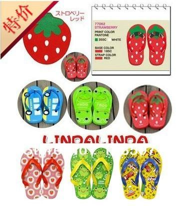 2013 new single Japan baby clip foot dragging children sandals sandals flip-flops non-slip bottom