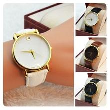 Cuatro colores forman a mujeres para mujer de lujo sencillo reloj Vintage oro fino Dial cuarzo reloj de pulsera