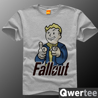 Free Shipping New Arrival Adult Game Fallout Tshirt Short Sleeve Fallout Top Tees