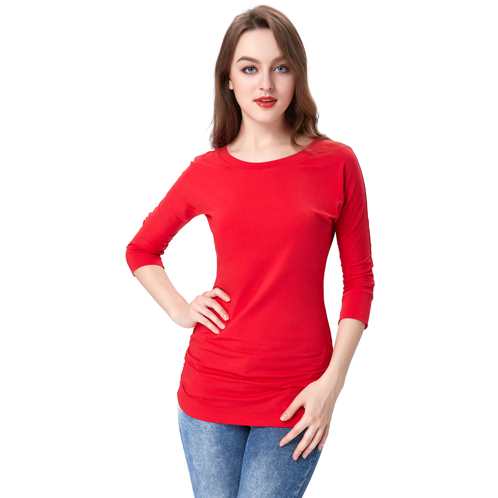 Buy 2016 plus size women clothing letter printed t shirt for Plus size 3 4 sleeve tee shirts