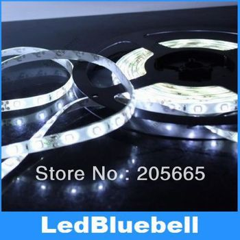 Free Shipping  5M 500CM 3528 Waterproof Flexible LED Strips Lights 300 leds 60leds/m 100M/ lot [ LedBluebell]