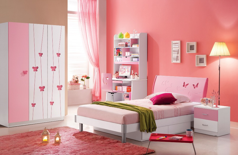 Pink Princess Children Dream House Furniture Bedroom Furniture Wood