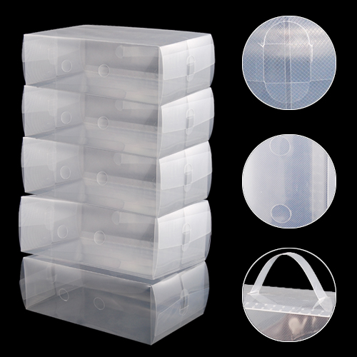 Boutique 5 x Clear Plastic Mens Shoe Storage Boxes Containers Size 8 9 10 11(China (Mainland))
