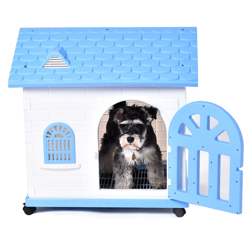 Domestic Delivery Pet Dog House Removable Dog Bed Dog Toilet Small Large Dog Kennel Pet Puppy Cat Home Easy Build Up Pet House(China (Mainland))