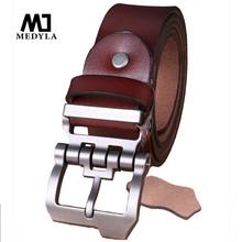 Buy cinto masculino 2017 designer high luxury brand genuine leather pin buckle belts men casual business men belts for $13.87 in AliExpress store
