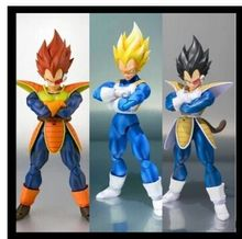 in stock datong SHF Dragon Ball Z Dragonball battle SSJ SDCC scouter Vegeta action figure Super Saiyan black hair model toy gift(China (Mainland))
