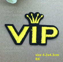1VIP embroidered Iron Patches BX garment hat bag badge Guaranteed Quality Appliques diy accessory - Endora's Discounted Store store