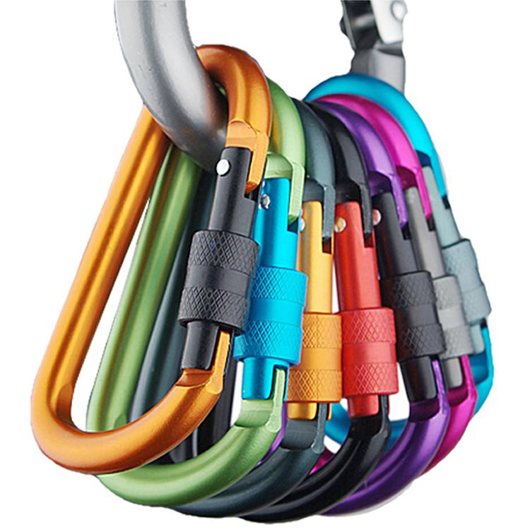 2015 Outdoor Safety Buckle Climbing Carabiner For Keys Aluminium Alloy Camping Equipment Sobrevivencia Titanium Stainless Steel(China (Mainland))