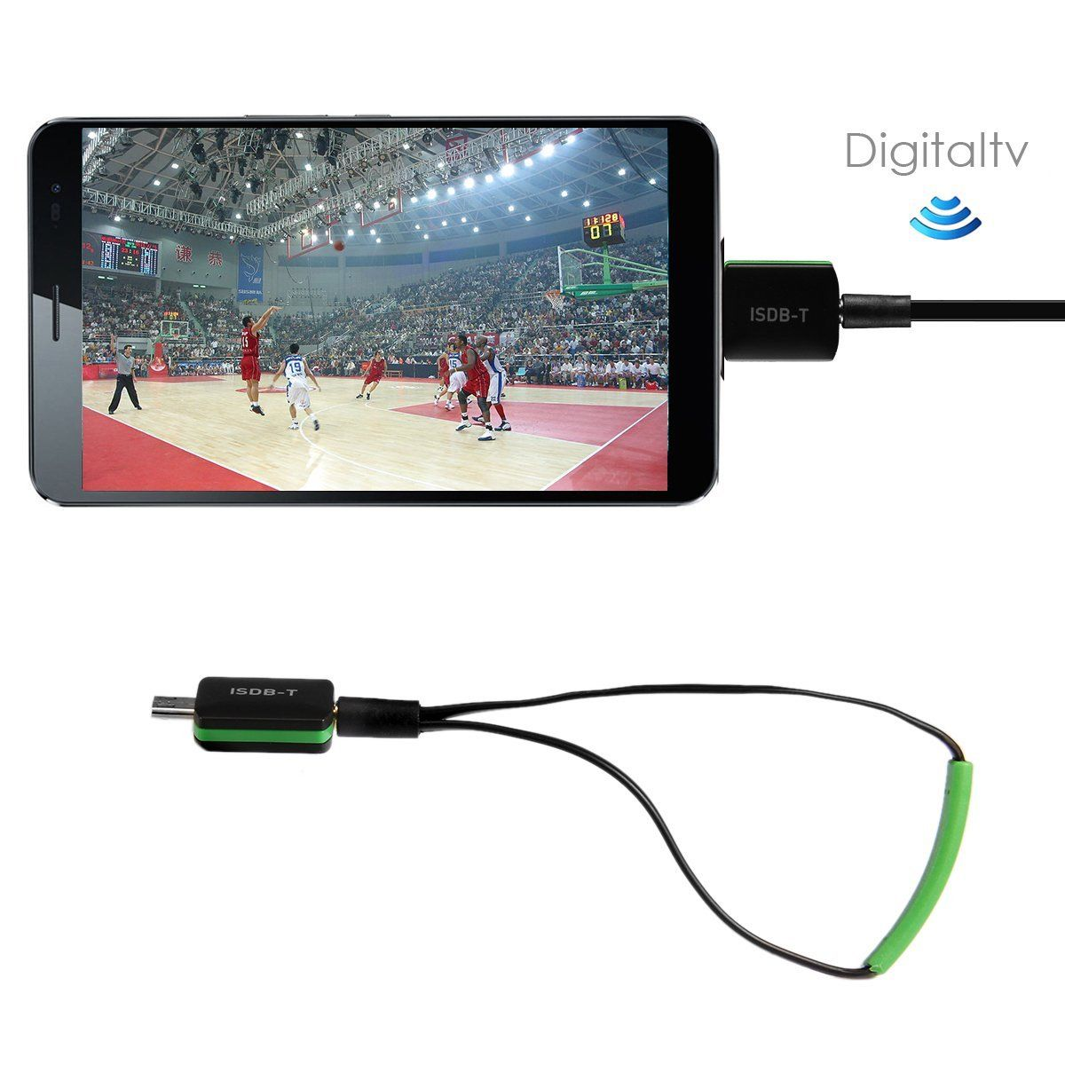 New ISDB-T Micro USB Tunner Digital HD TV Receiver for Android Smartphone Tablet PC Free Shipping(China (Mainland))