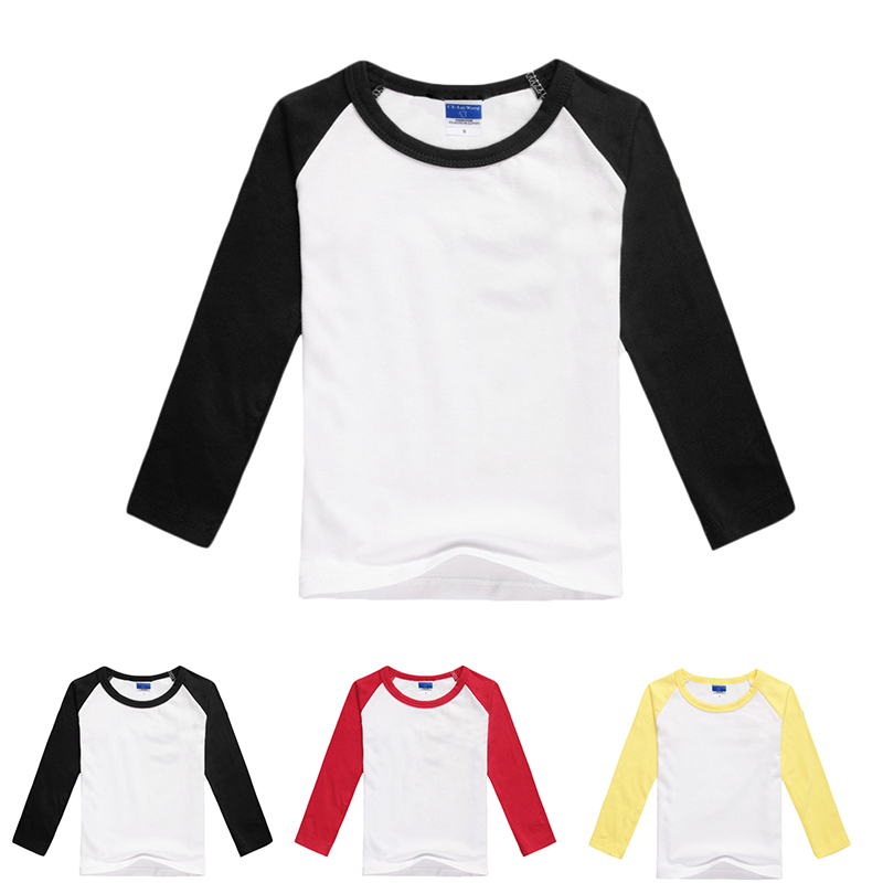 Blank t-shirt raglan long sleeve plain tee shirts child baseball tops all for kids clothes and accessories<br><br>Aliexpress