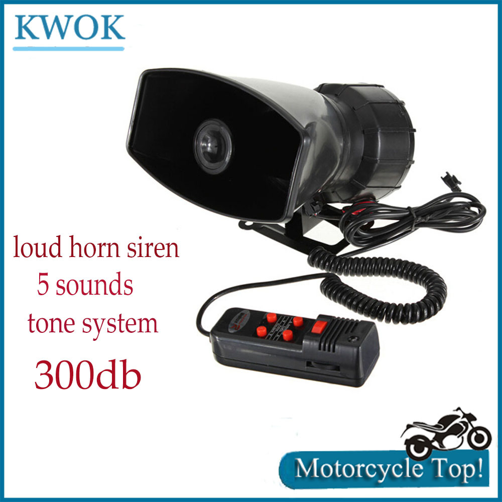 12V Max 300db Super Loud Siren 5 Sounds Tone PA System 60W For Wehicle Car Motor Motorcycle Van Truck Speaker Alarm P6(China (Mainland))