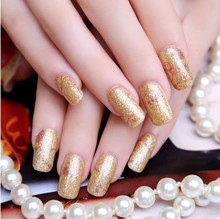 free shipping patch sexy golden beauty stylish strap on nail Stickers, 3D nail art, sticker on nails
