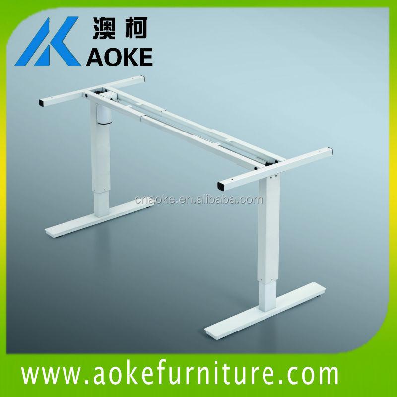 white color telescop single motor adjustable height office desks(China (Mainland))