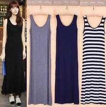 2016 Summer Dress Sexy Women Maxi Dress Solid O-neck Sleeveless Modal Casual Dress Elegant Evening Party Long Dresses Vestidos