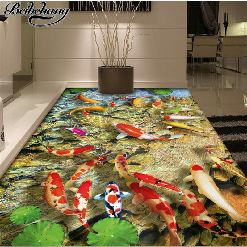 Popular chinese carp paintings buy cheap chinese carp for Chinese mural wallpaper