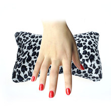 Lucky 2015 New Arrival Nail design special Bone Shape Leopard Cushion Nail Art Column Sponge Hand Pillow Free Shipping&Whloesale(China (Mainland))