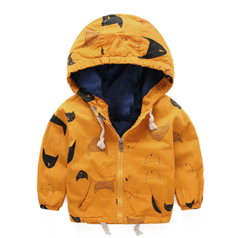 Kids Toddler Boy Jacket Spring Autumn Hooded Coat Baby Clothes For Children Outerwear Windbreaker Boys blazer Parka Clothing(China (Mainland))