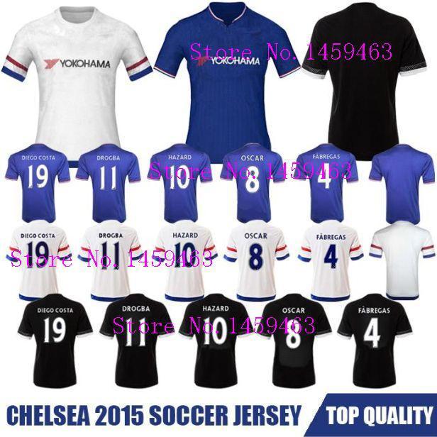 2015 2016 Chelsea Jerseys 15/16 Chelsea Home and Away Football Shirt Men's Jerseys(China (Mainland))