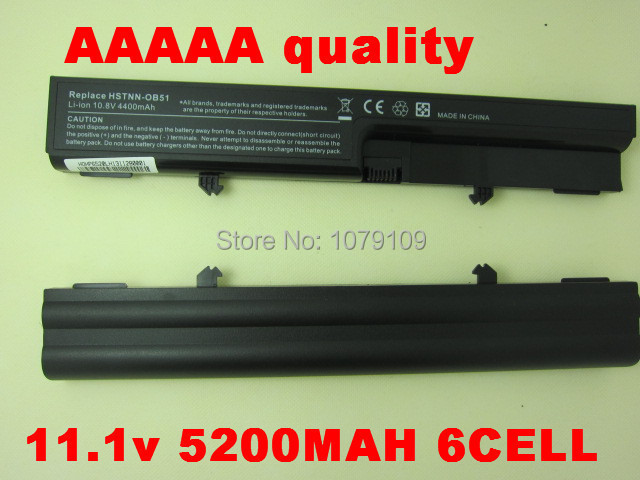 5200mAh 6CELLS Laptop battery for Hp Business Notebook 6520S 6530s 6531s 6535S For Compaq 510 511 515 516 540 541 HSTNN-OB51(China (Mainland))