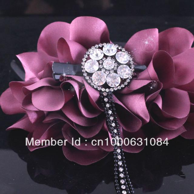 Summer Sale Free Shipping 6pcs/lot Fashion Rhinestone Hair Clip With Macrame Chain Wedding Hair Accessories