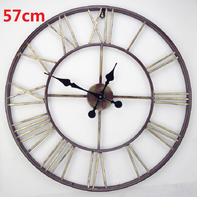 2016 oversized vintage wrought iron wall clock large retro Oversized metal wall clocks